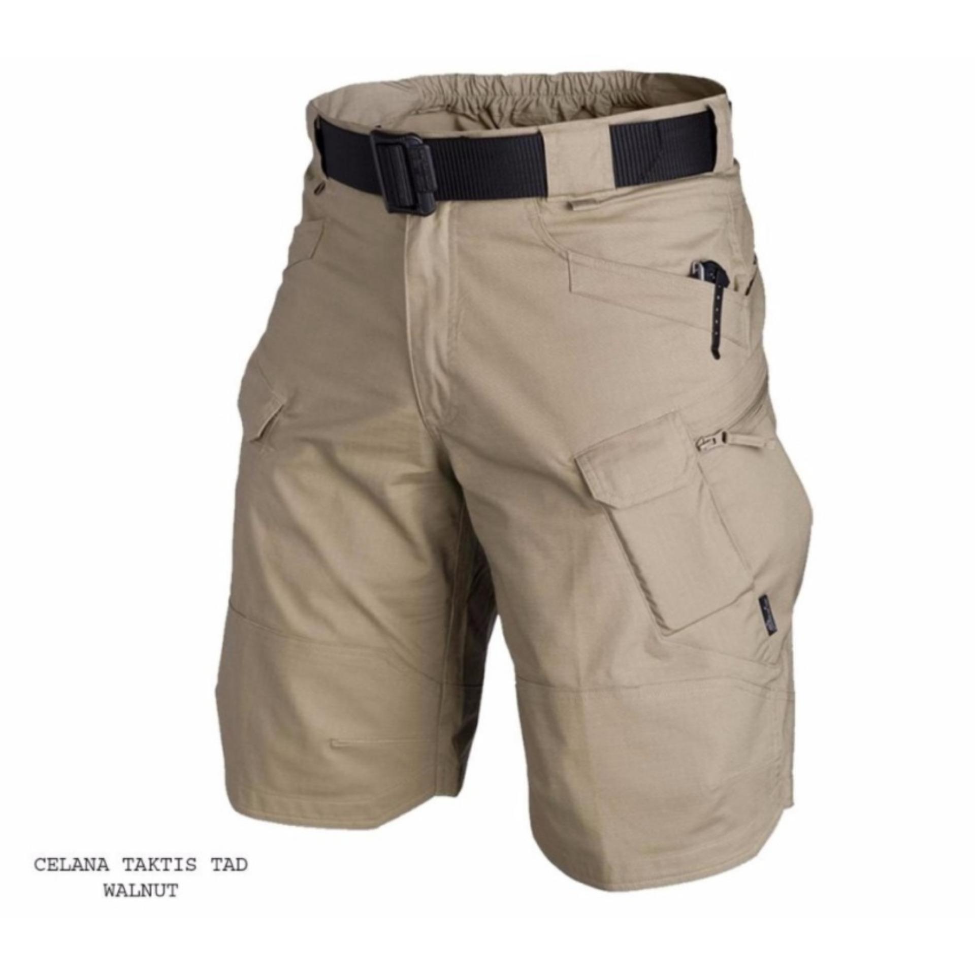 TjinCollection-Celana Tactical Blackhawk Pendek PDL Kargo ShortPants [Krem-Abu-Hitam-Hijau]
